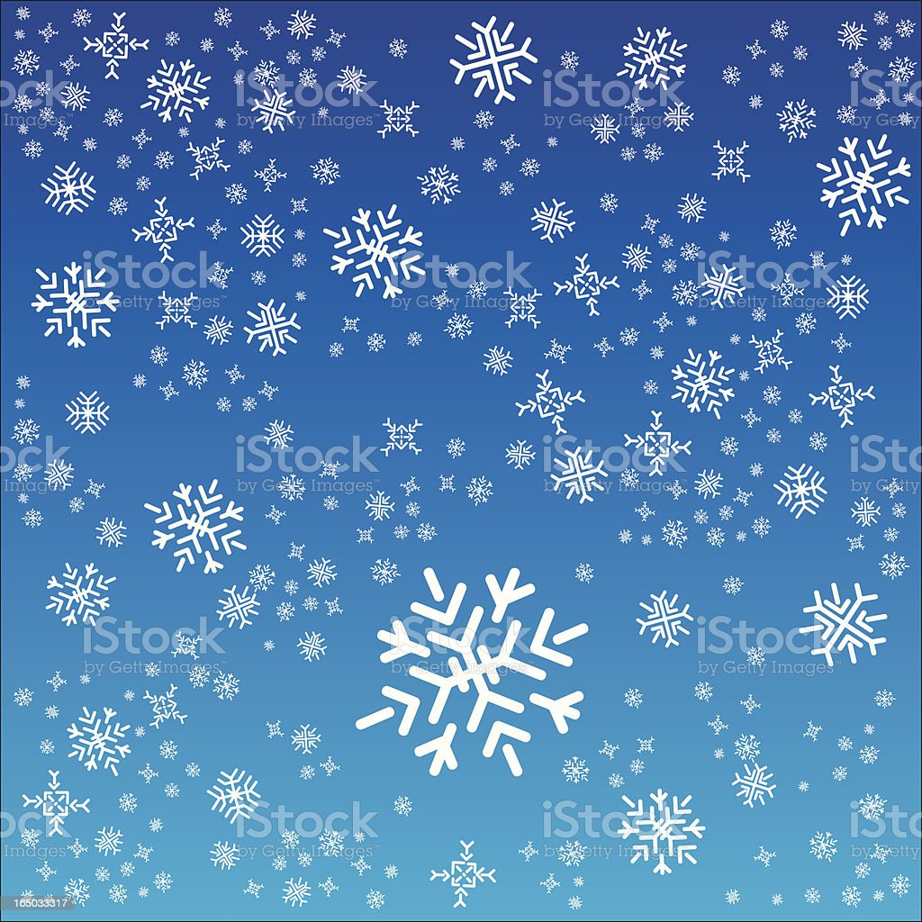Snow Flakes vector art illustration