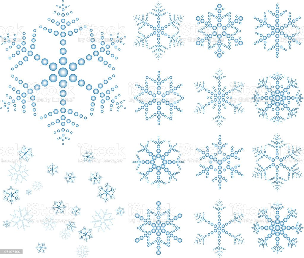'Snow' flakes [Vector & Scatter Brush] royalty-free snow flakes vector scatter brush stock vector art & more images of art