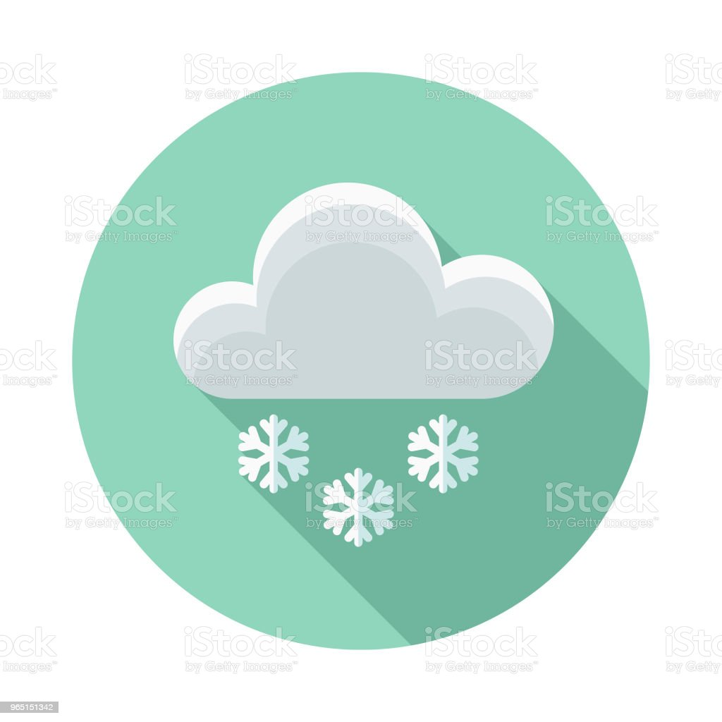 Snow Flat Design Winter Icon with Side Shadow royalty-free snow flat design winter icon with side shadow stock vector art & more images of blue