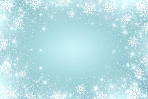 stockillustraties, clipart, cartoons en iconen met sneeuw vorst effect. abstracte helderwit shimmer lichten en sneeuwvlokken. gloeiende blizzard. dalende ronde deeltjes te verstrooien. - sneeuwvlok