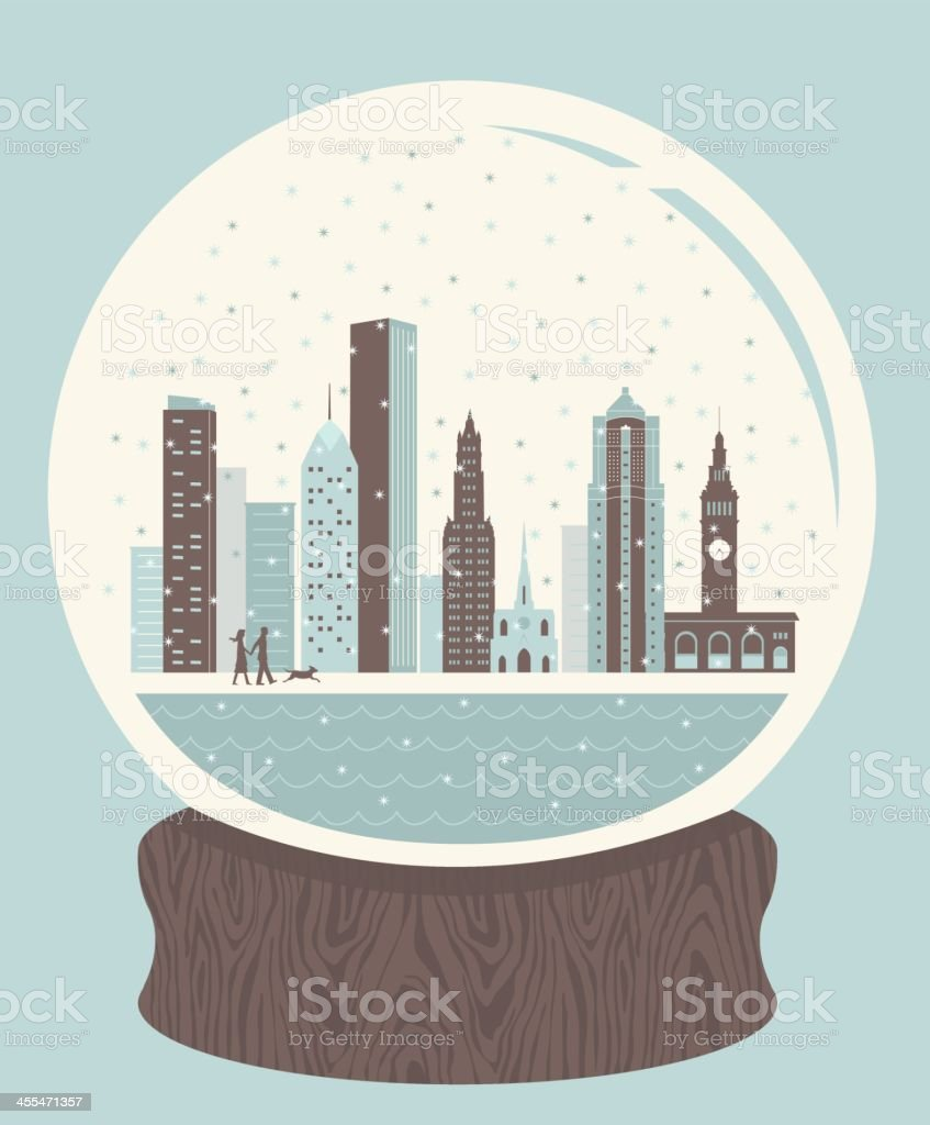 Snow Globe City royalty-free snow globe city stock vector art & more images of architecture
