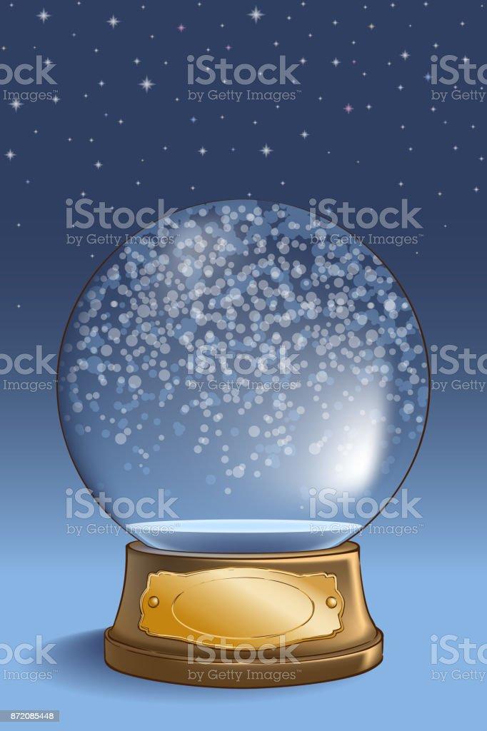 Snow globe empty vector art illustration