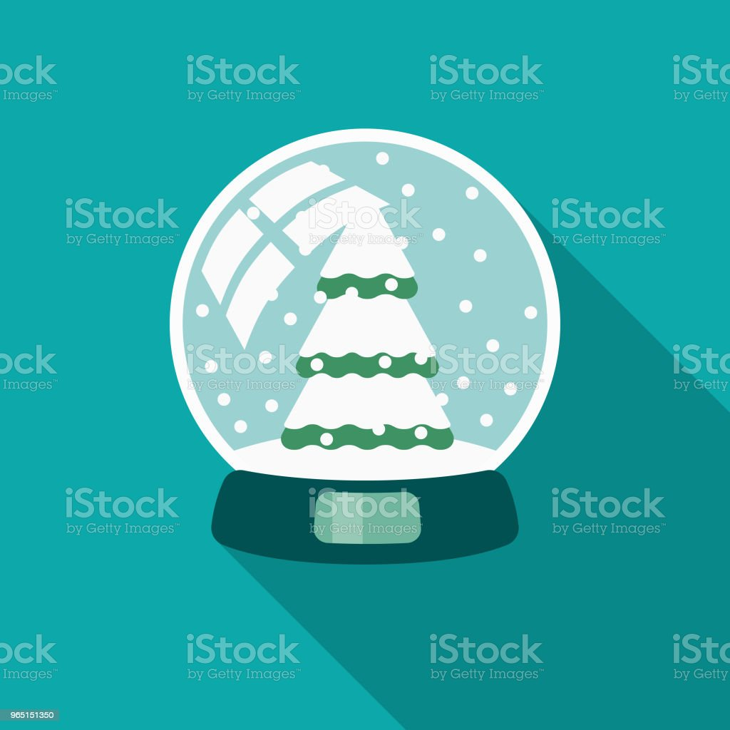Snow Globe Flat Design Winter Icon with Side Shadow royalty-free snow globe flat design winter icon with side shadow stock illustration - download image now