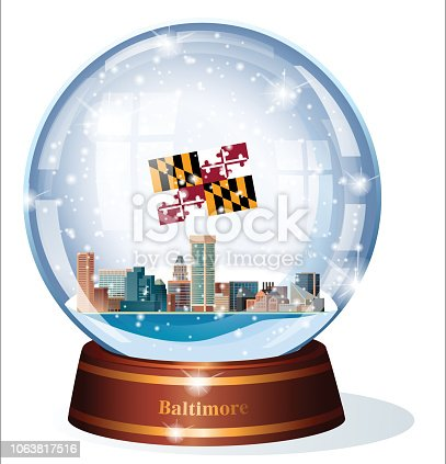 istock Snow Globe, Maryland -  Baltimare 1063817516