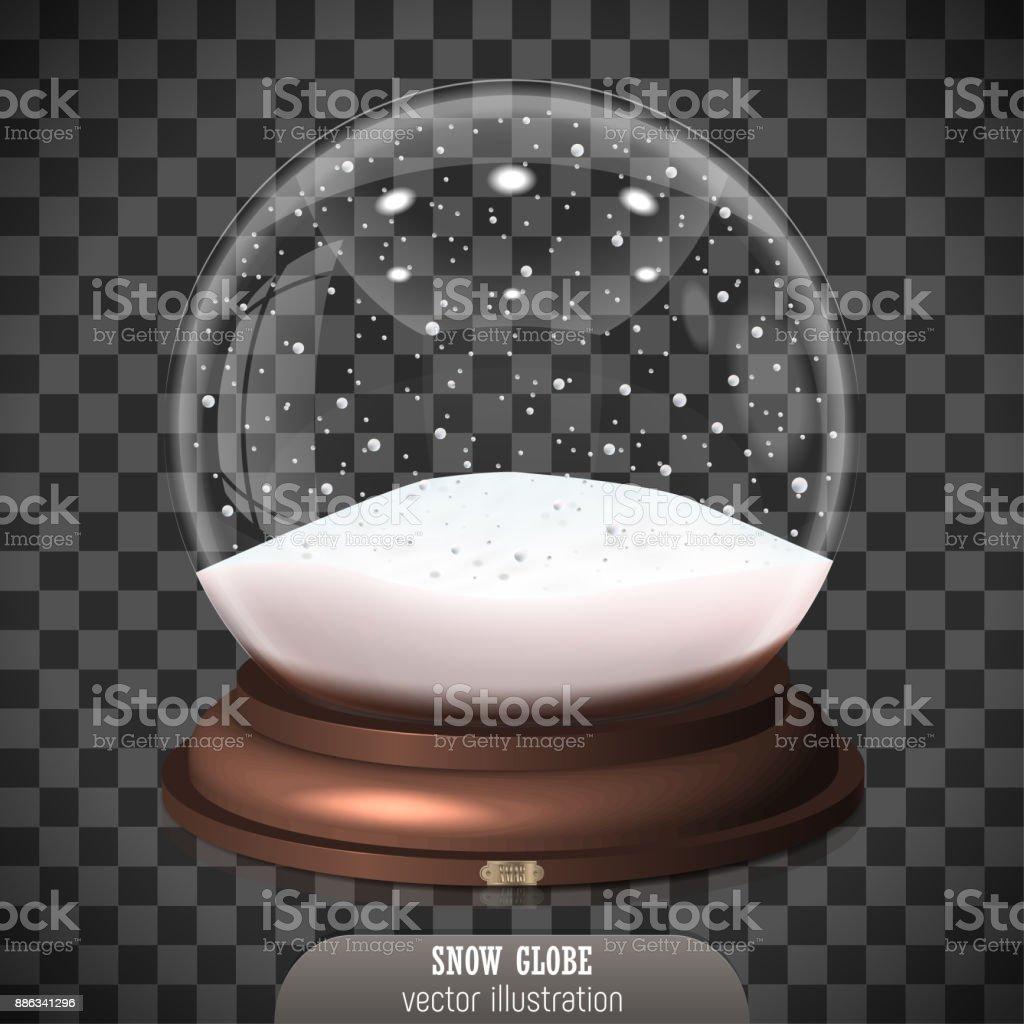 Globo de la nieve sobre fondo transparente. Feliz Navidad y feliz año nuevo 2018. Globo de nieve realista para su proyecto empresarial. Ilustración de vector - ilustración de arte vectorial