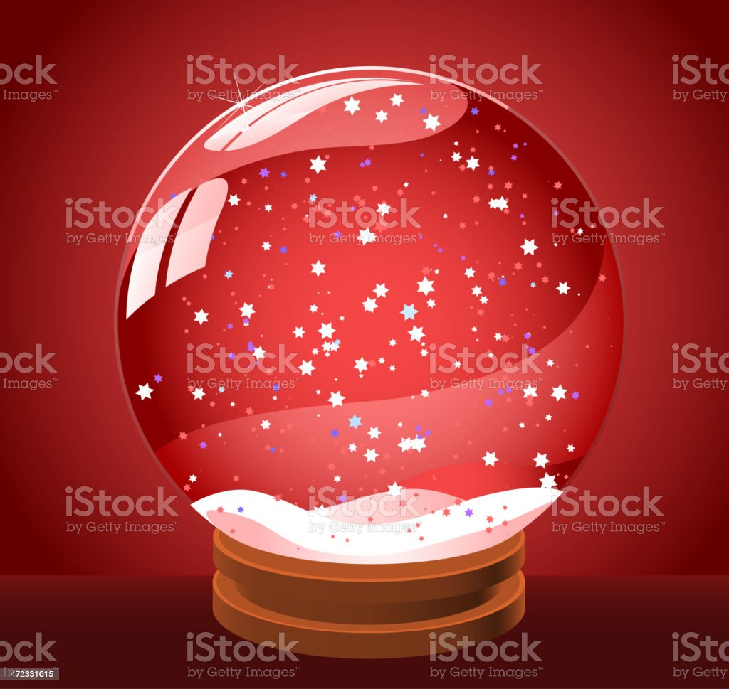 Snow globe snowball royalty-free stock vector art