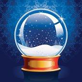 Snow Globe with Winter Landscape.