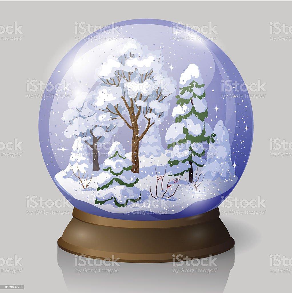 snow globe royalty-free stock vector art