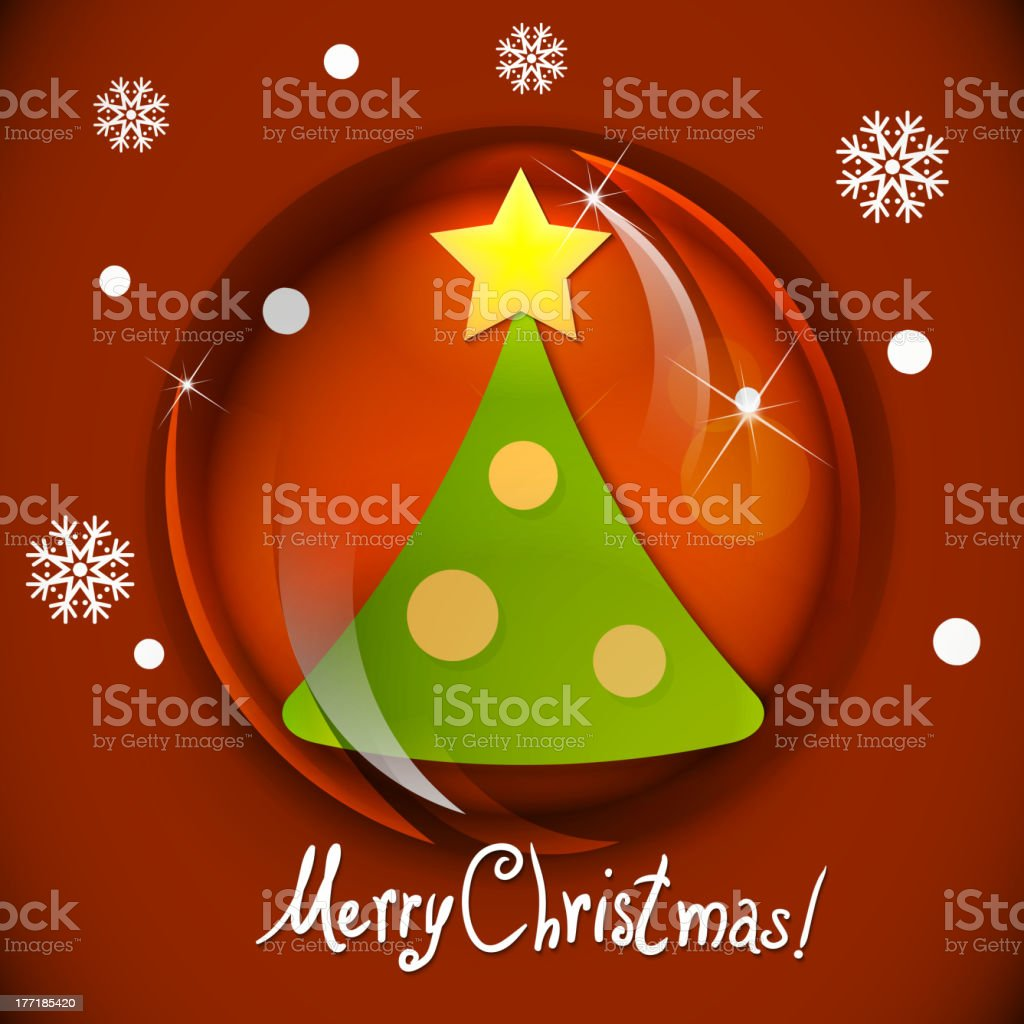 Snow globe with Christmas Tree royalty-free stock vector art
