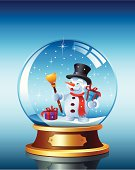 Snow globe with Snowman. High Resolution JPG,CS5 AI and Illustrator 0.8 EPS included.
