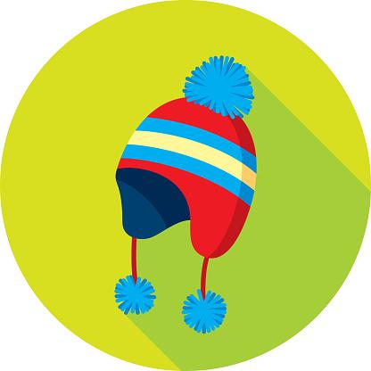 Snow Hat Icon Flat