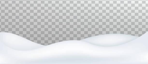 Snow landscape. Snow drift, mountain. Snow landscape isolated on transparent background. Snow drift, mountain. Vector illustration. snowdrift stock illustrations