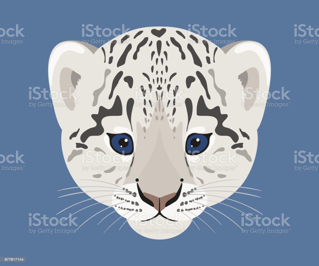 Ilustración de Cara De Cachorro De Leopardo De Las Nieves ...