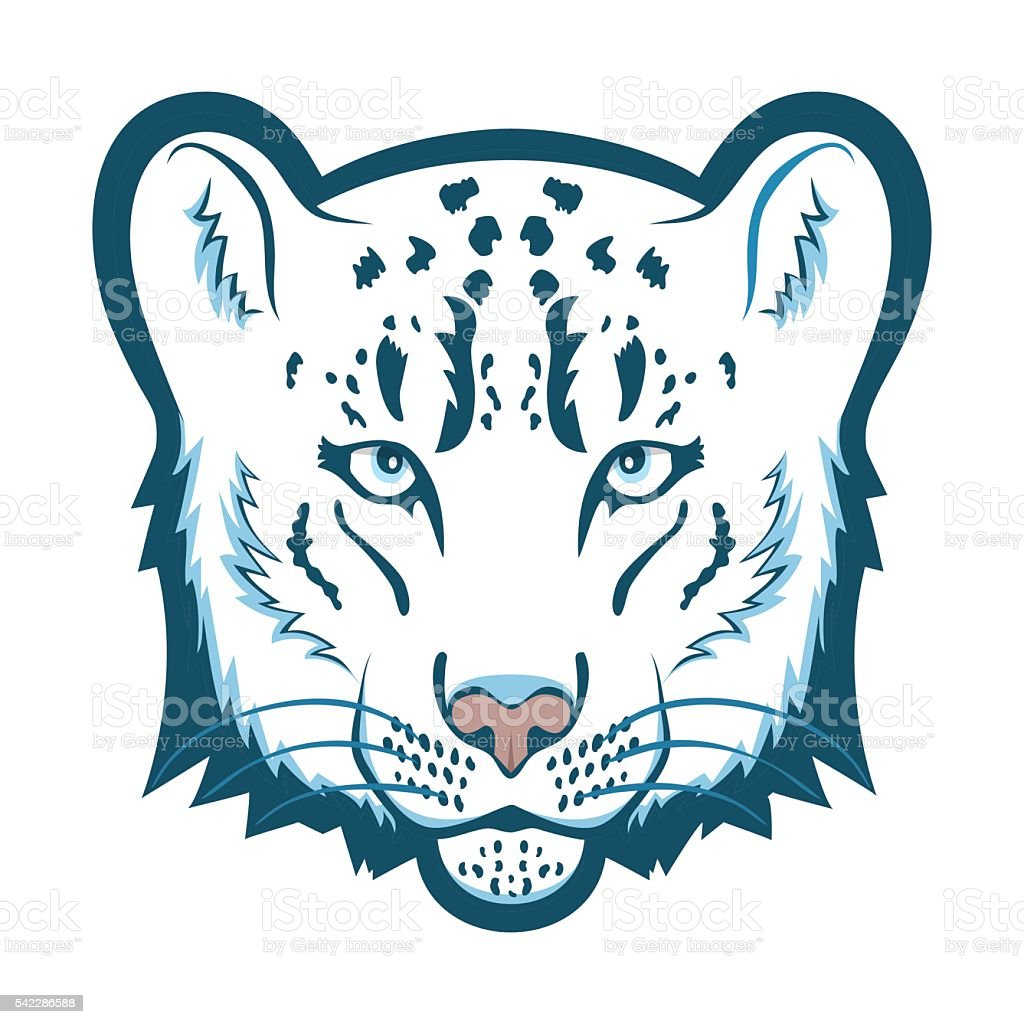 snow leopard logo mascot snow leopard head isolated vector rh istockphoto com Snow Leopard Coloring Pages Snow Leopard Silhouette