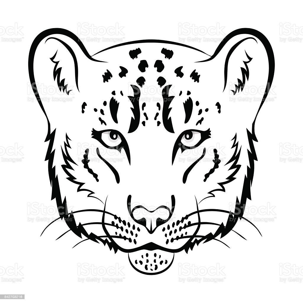 Ilustración de Leopardo De Las Nieves Logotipo Mascota Leopardo De ...