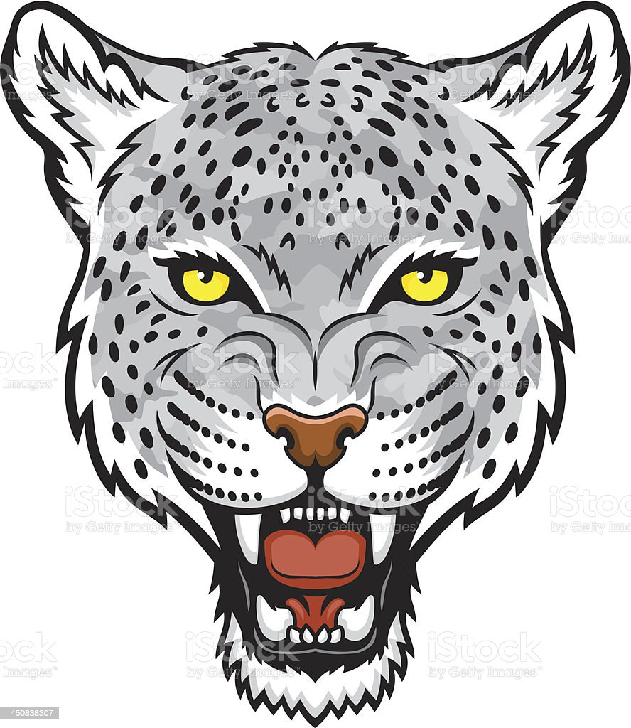 Snow leopard royalty-free stock vector art