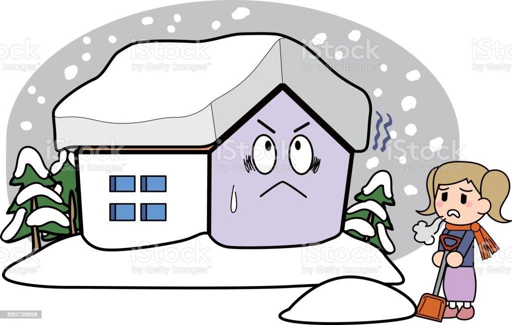 屋根の上の積雪 アーカイブ画像のベクターアート素材や画像を多数ご