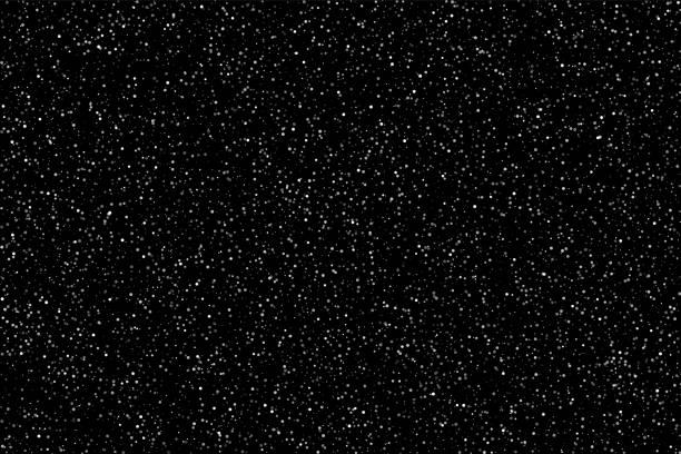 ilustraciones, imágenes clip art, dibujos animados e iconos de stock de nieve o estrellas sobre fondo de cielo de noche. fondo de vector plano - nieve
