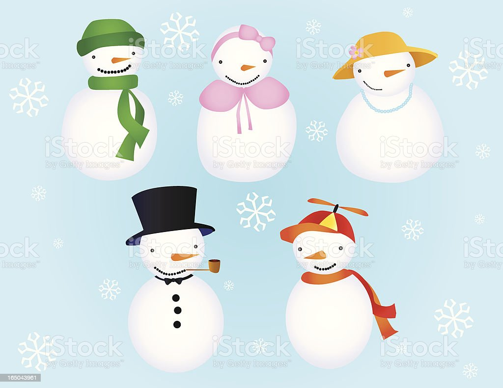 Snow People royalty-free snow people stock vector art & more images of cold temperature