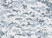 Snow pixels camouflage texture