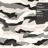 Abstract Snow polygon camouflage pattern.