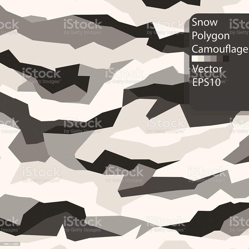 Snow Polygon Camouflage pattern. vector art illustration