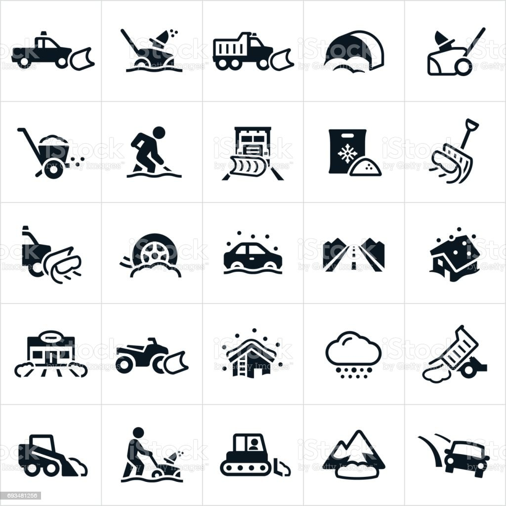 Snow Removal Icons