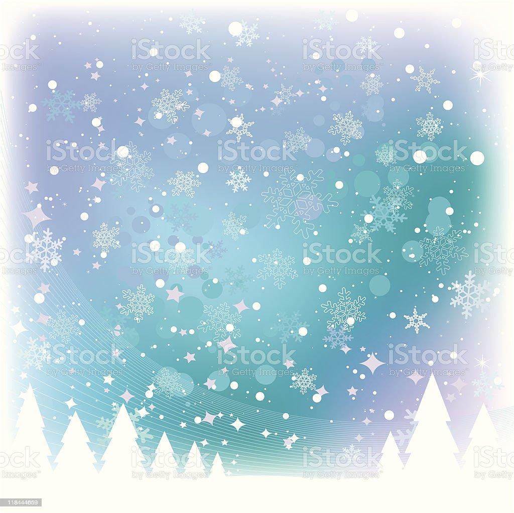 Snow Scene royalty-free snow scene stock vector art & more images of aurora borealis