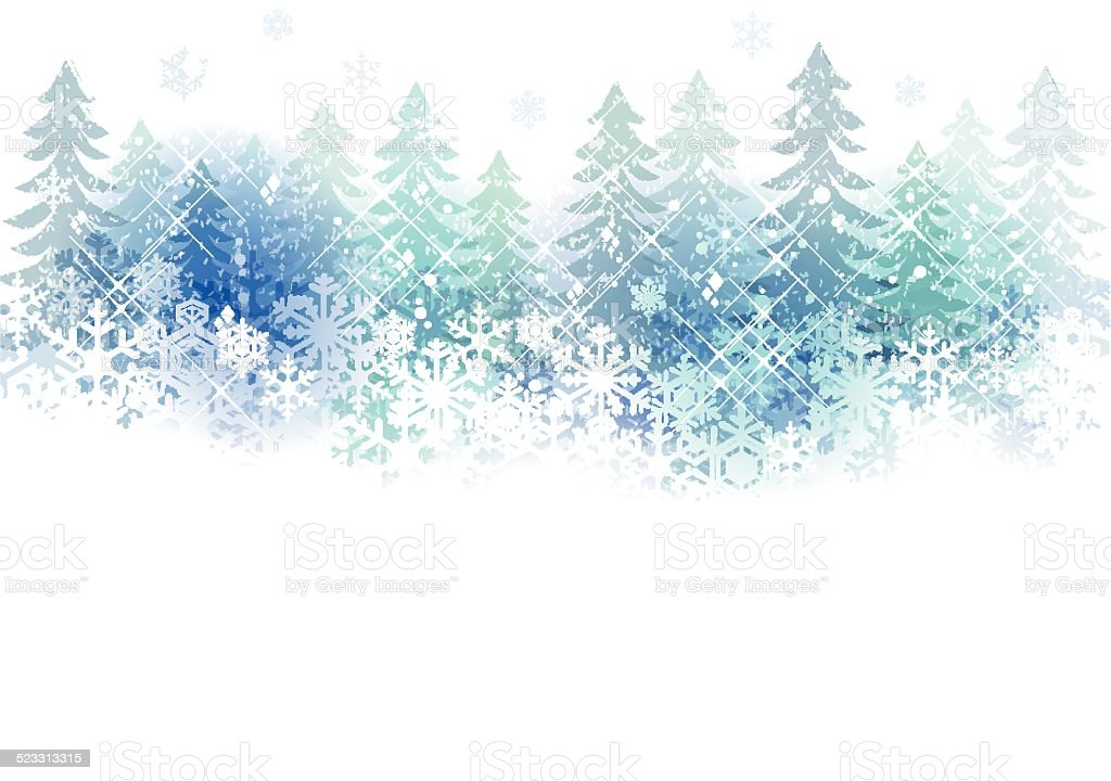 snow scenery background vector art illustration