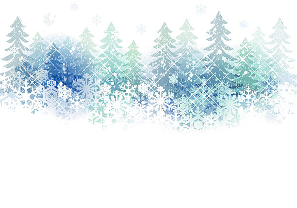 snow scenery background Snow scenery background with copy space.File contains clipping mask,Gradient, Transparency, Gradient mesh, Blending tool. january stock illustrations