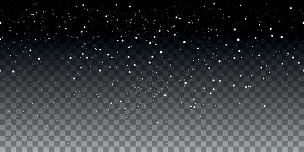illustrazioni stock, clip art, cartoni animati e icone di tendenza di snow seamless pattern on transparent background - snow