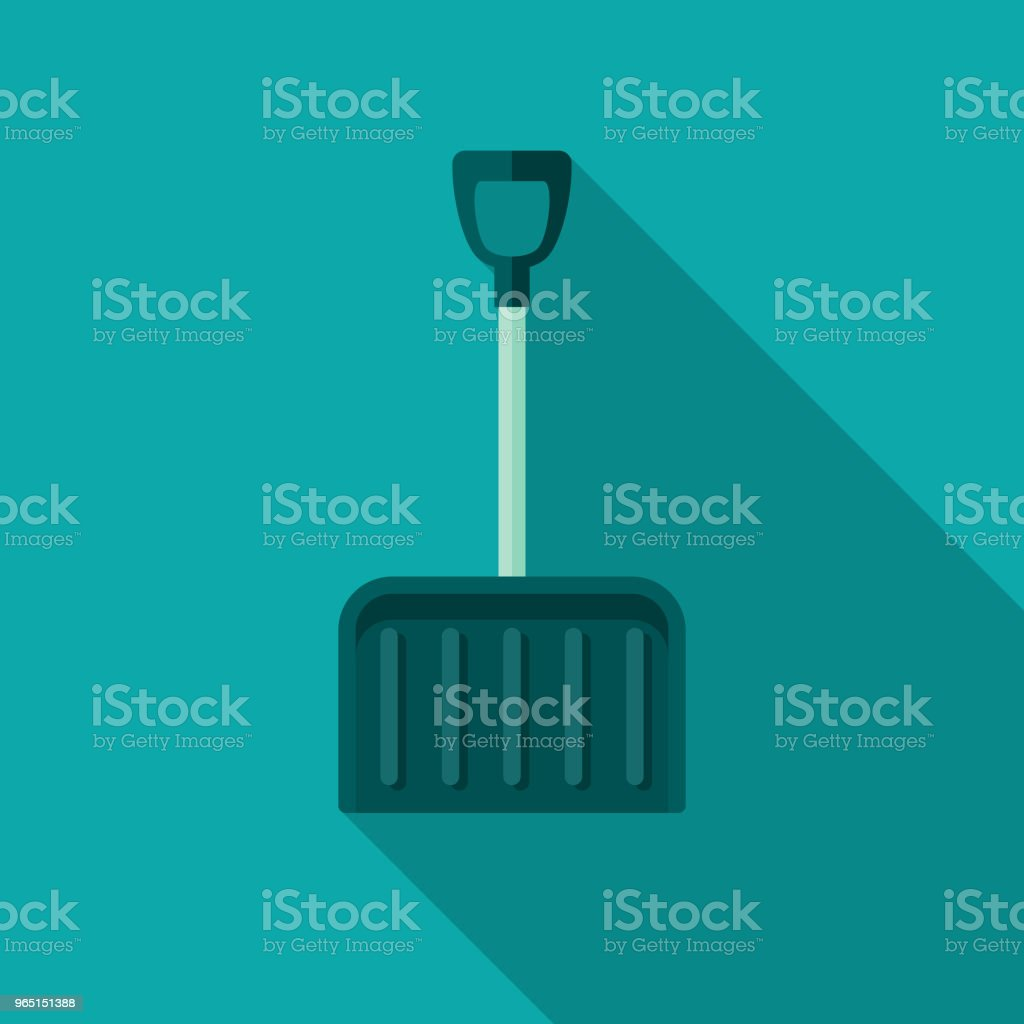 Snow Shovel Flat Design Winter Icon with Side Shadow royalty-free snow shovel flat design winter icon with side shadow stock vector art & more images of blue