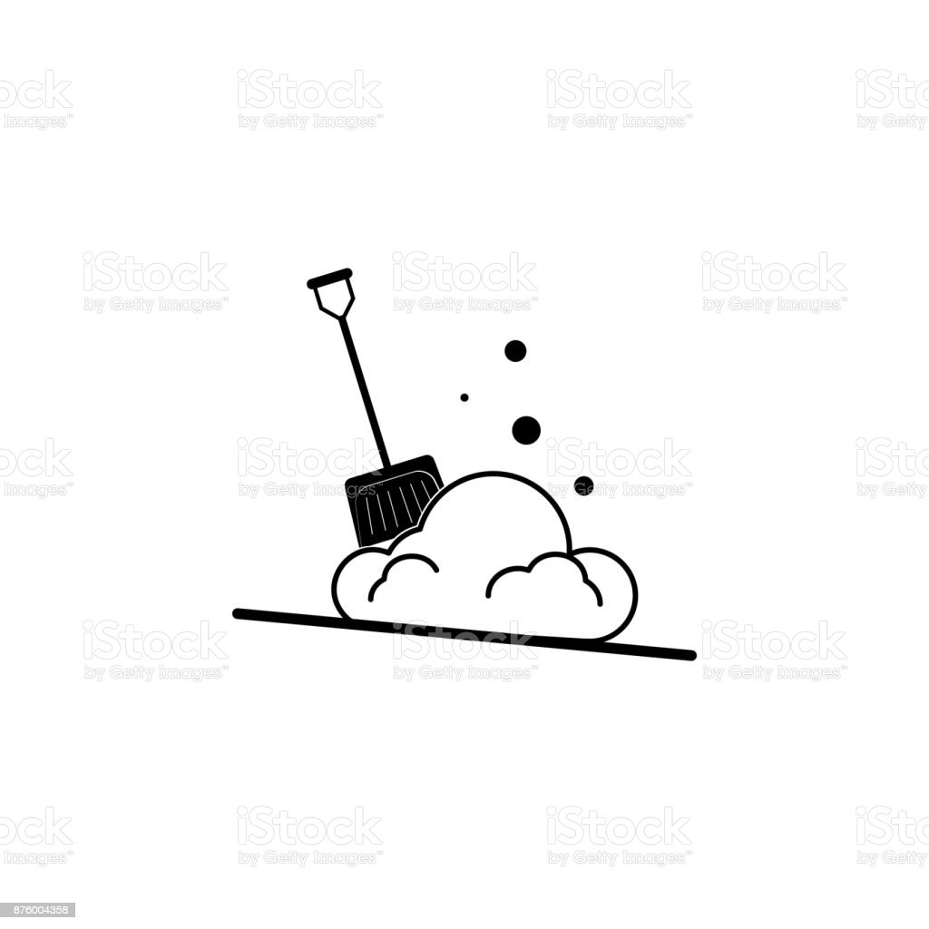 Snow Shovel icon. Simple winter elements icon. Can be used as web element, playing design icon vector art illustration