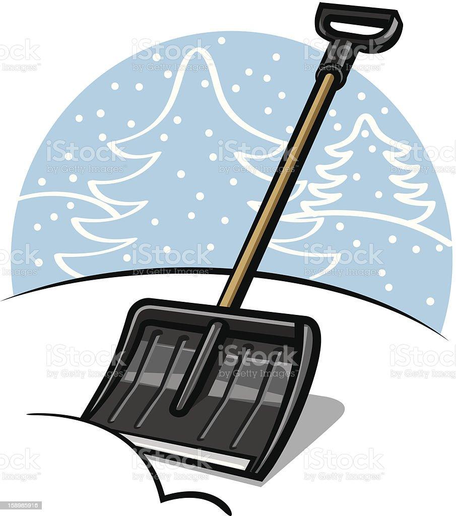 royalty free snow shoveling clip art vector images illustrations rh istockphoto com Snow Shoveling Cartoon Snow Clip Art
