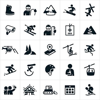 Snow Skiing Icons