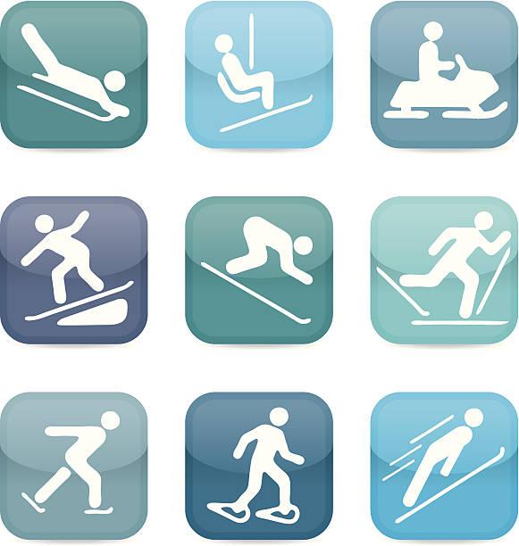 Schnee-sport-icons – Vektorgrafik