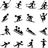 Snow Sports Icons - Black Series
