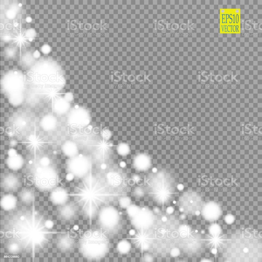 Schnee Sterne Glitzerlinie Auf Einem Transparenten Hintergrund