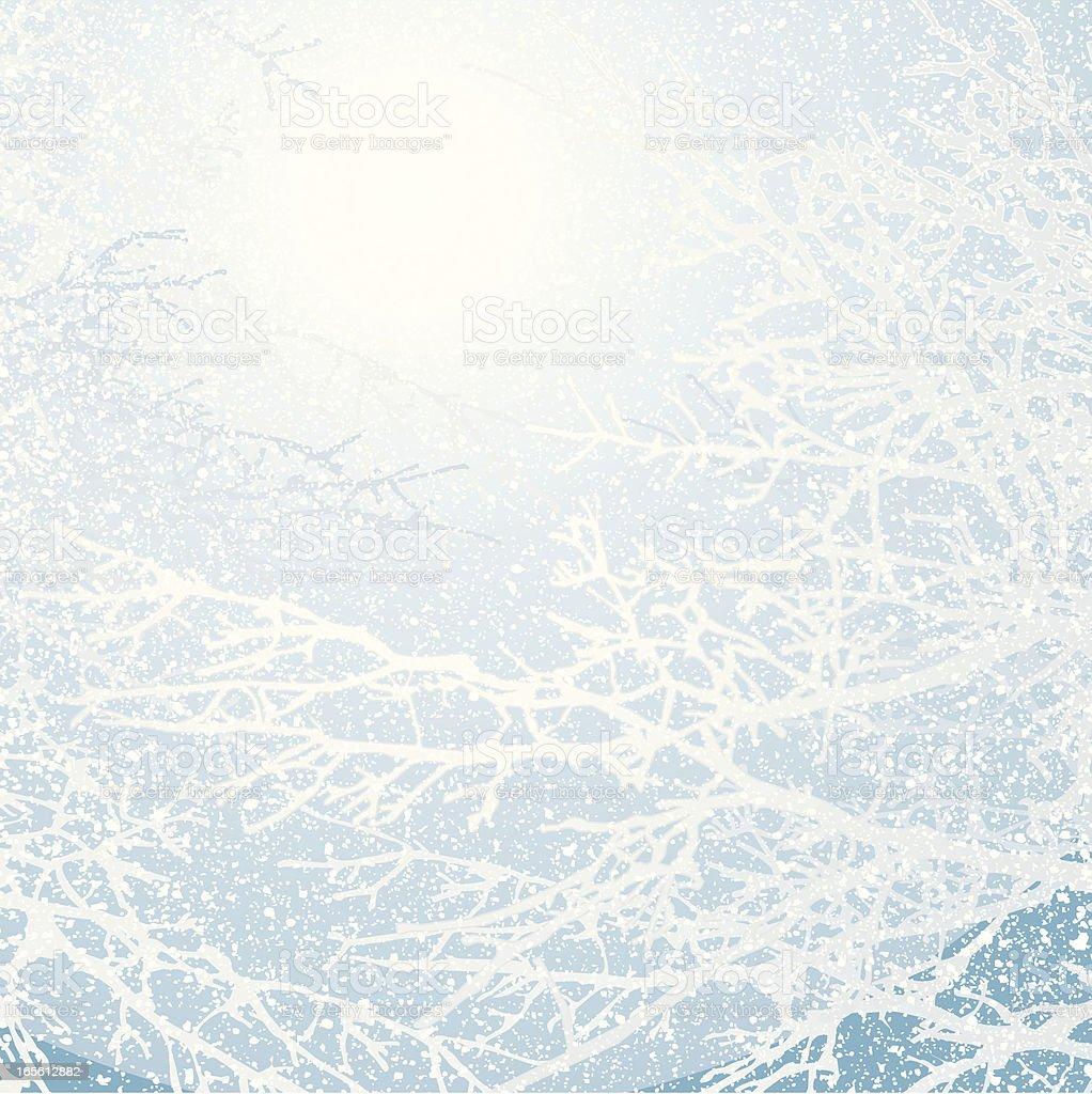 Snow Storm Background vector art illustration