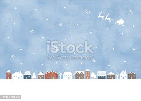 istock Snow town 1203853973
