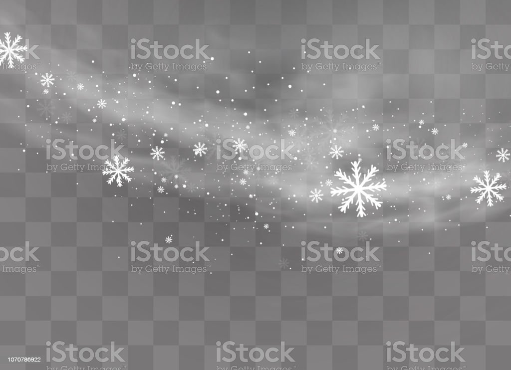 Sneeuw transparante achtergrond. - Royalty-free Abstract vectorkunst