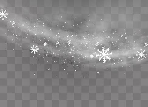 Snow transparent background.