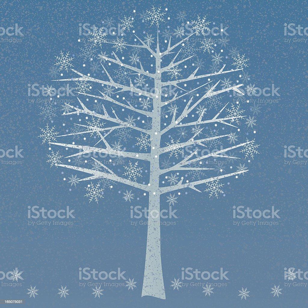 Snow Tree royalty-free stock vector art