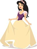Snow White Princess Vector Character