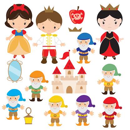 Snow White vector illustration