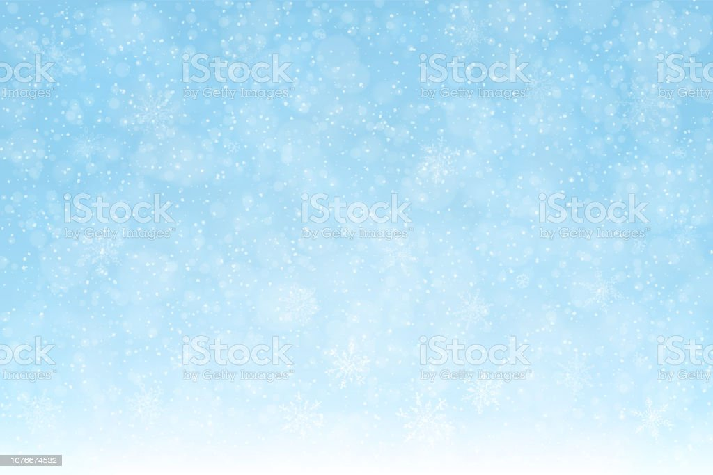 snow_background_snowflakes_softblue_2_expanded - Royalty-free Achtergrond - Thema vectorkunst