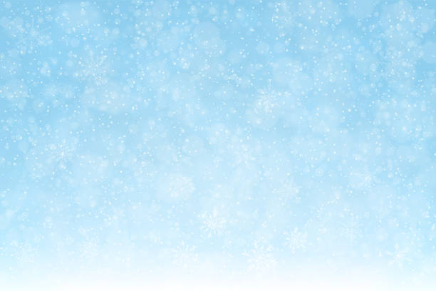 snow_background_snowflakes_softblue_2_expanded Christmas - Winter blue background: Falling snow, snowflakes and defocused lights The eps file is organised into layers for better editing. tranquil scene stock illustrations