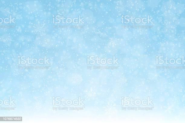 Snowbackgroundsnowflakessoftblue2expanded Stockvectorkunst en meer beelden van Achtergrond - Thema