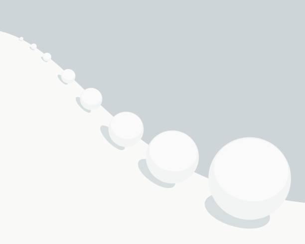 efekt kuli śnieżnej - efekty fotograficzne stock illustrations