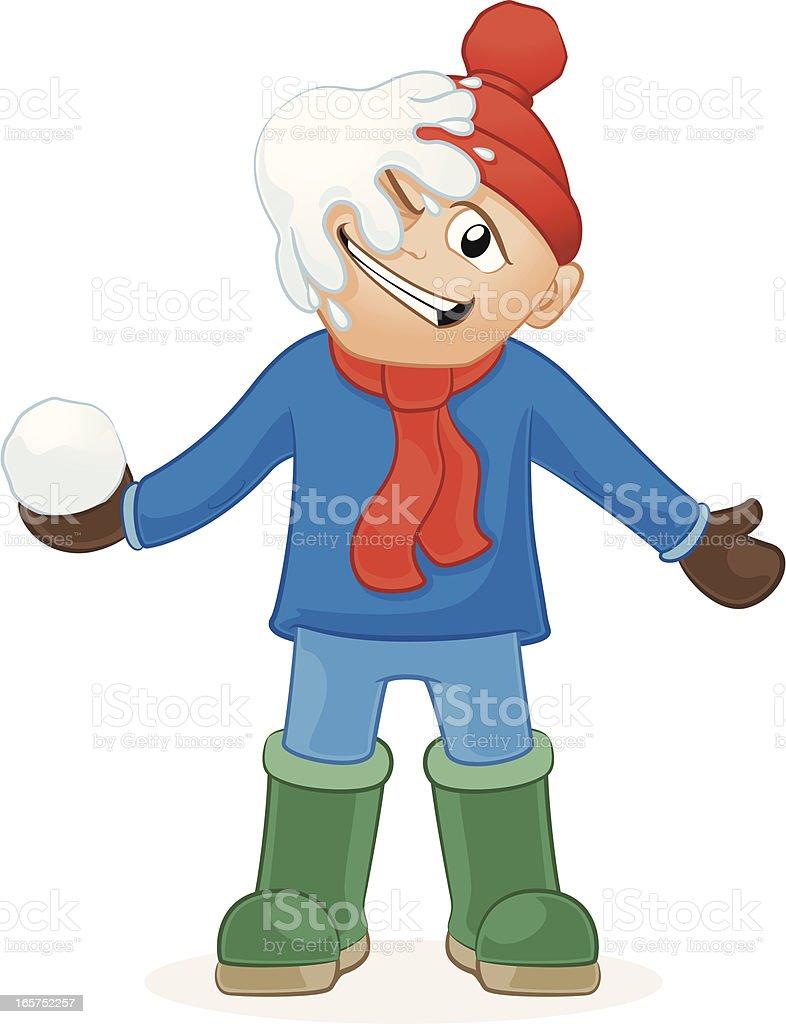 Guerra de bola de neve! - ilustração de arte em vetor